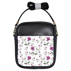 Floral Wallpaper Pattern Seamless Girls Sling Bags
