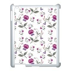 Floral Wallpaper Pattern Seamless Apple Ipad 3/4 Case (white)