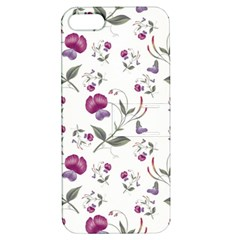 Floral Wallpaper Pattern Seamless Apple Iphone 5 Hardshell Case With Stand