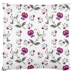Floral Wallpaper Pattern Seamless Large Flano Cushion Case (two Sides)