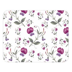Floral Wallpaper Pattern Seamless Double Sided Flano Blanket (large)