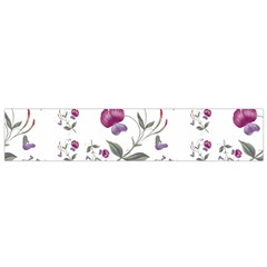Floral Wallpaper Pattern Seamless Small Flano Scarf by goodart