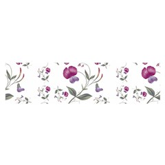 Floral Wallpaper Pattern Seamless Satin Scarf (oblong)
