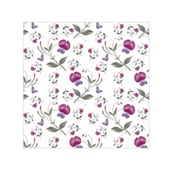 Floral Wallpaper Pattern Seamless Small Satin Scarf (square)