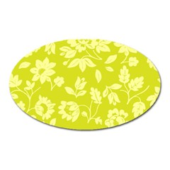 Floral Vintage Wallpaper Pattern Oval Magnet