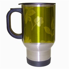 Floral Vintage Wallpaper Pattern Travel Mug (silver Gray)