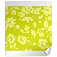 Floral Vintage Wallpaper Pattern Canvas 8  X 10