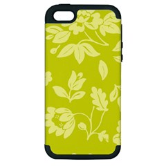 Floral Vintage Wallpaper Pattern Apple Iphone 5 Hardshell Case (pc+silicone)