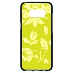 Floral Vintage Wallpaper Pattern Samsung Galaxy S8 Black Seamless Case