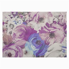 Floral Vintage Wallpaper Pattern Pink White Blue Large Glasses Cloth (2 Side)