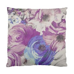 Floral Vintage Wallpaper Pattern Pink White Blue Standard Cushion Case (one Side)