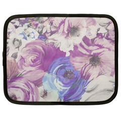 Floral Vintage Wallpaper Pattern Pink White Blue Netbook Case (xxl)