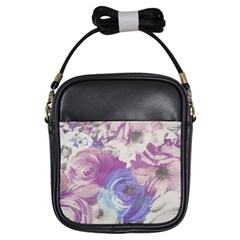 Floral Vintage Wallpaper Pattern Pink White Blue Girls Sling Bags