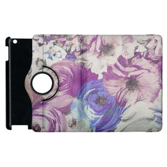 Floral Vintage Wallpaper Pattern Pink White Blue Apple Ipad 2 Flip 360 Case
