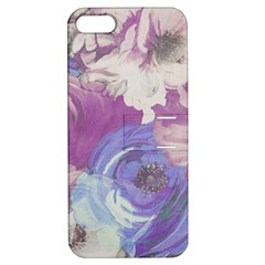 Floral Vintage Wallpaper Pattern Pink White Blue Apple Iphone 5 Hardshell Case With Stand