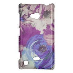 Floral Vintage Wallpaper Pattern Pink White Blue Nokia Lumia 720