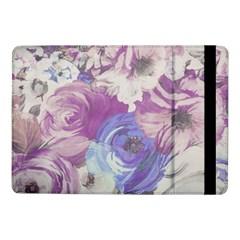 Floral Vintage Wallpaper Pattern Pink White Blue Samsung Galaxy Tab Pro 10 1  Flip Case