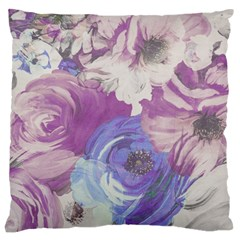 Floral Vintage Wallpaper Pattern Pink White Blue Standard Flano Cushion Case (two Sides)