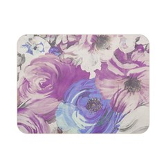 Floral Vintage Wallpaper Pattern Pink White Blue Double Sided Flano Blanket (mini)
