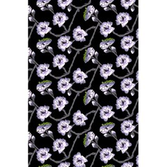 Floral Pattern Black Purple 5 5  X 8 5  Notebooks