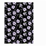 Floral Pattern Black Purple Large Garden Flag (Two Sides) Front