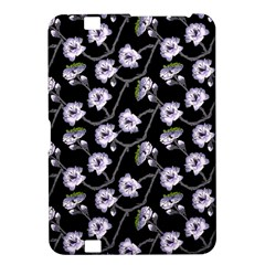 Floral Pattern Black Purple Kindle Fire Hd 8 9