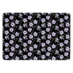 Floral Pattern Black Purple Samsung Galaxy Tab 8 9  P7300 Flip Case