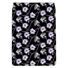 Floral Pattern Black Purple Flap Covers (l)
