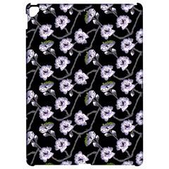 Floral Pattern Black Purple Apple Ipad Pro 12 9   Hardshell Case