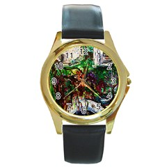 Gatchina Park 4 Round Gold Metal Watch by bestdesignintheworld
