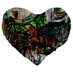 Gatchina Park 4 Large 19  Premium Heart Shape Cushions by bestdesignintheworld