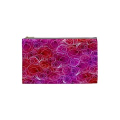 Floral Pattern Pink Flowers Cosmetic Bag (small)