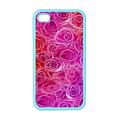 Floral Pattern Pink Flowers Apple Iphone 4 Case (color)