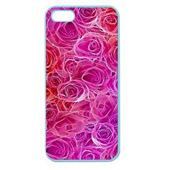 Floral Pattern Pink Flowers Apple Seamless Iphone 5 Case (color)