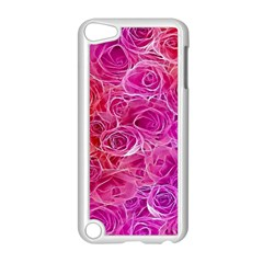 Floral Pattern Pink Flowers Apple Ipod Touch 5 Case (white)