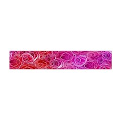 Floral Pattern Pink Flowers Flano Scarf (mini)