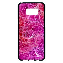 Floral Pattern Pink Flowers Samsung Galaxy S8 Plus Black Seamless Case