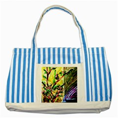 House Will Be Buit 4 Striped Blue Tote Bag by bestdesignintheworld
