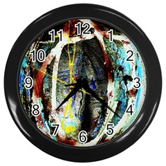 Egg In The Duck Wall Clocks (black)