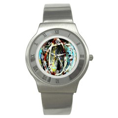 Egg In The Duck Stainless Steel Watch