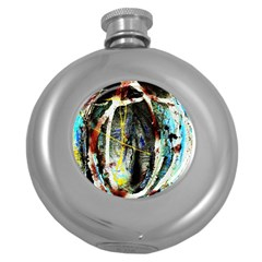 Egg In The Duck Round Hip Flask (5 Oz)