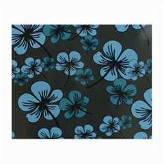 Blue Flower Pattern Young Blue Black Small Glasses Cloth