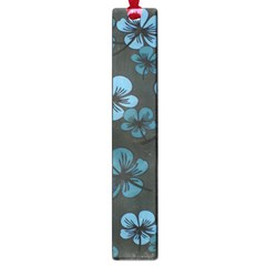 Blue Flower Pattern Young Blue Black Large Book Marks