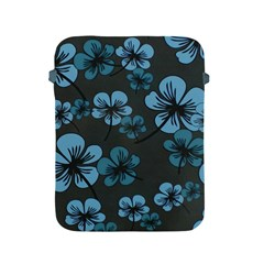 Blue Flower Pattern Young Blue Black Apple Ipad 2/3/4 Protective Soft Cases
