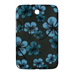 Blue Flower Pattern Young Blue Black Samsung Galaxy Note 8 0 N5100 Hardshell Case