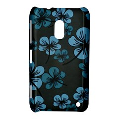 Blue Flower Pattern Young Blue Black Nokia Lumia 620