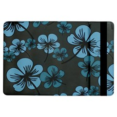 Blue Flower Pattern Young Blue Black Ipad Air Flip
