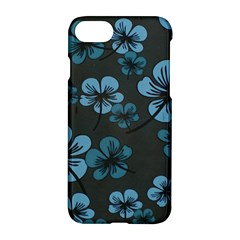 Blue Flower Pattern Young Blue Black Apple Iphone 7 Hardshell Case