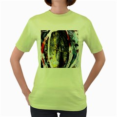 Egg In The Duck   Needle In The Egg 7 Women s Green T Shirt