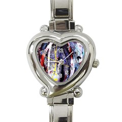 Egg In The Duck   Needle In The Egg 7 Heart Italian Charm Watch